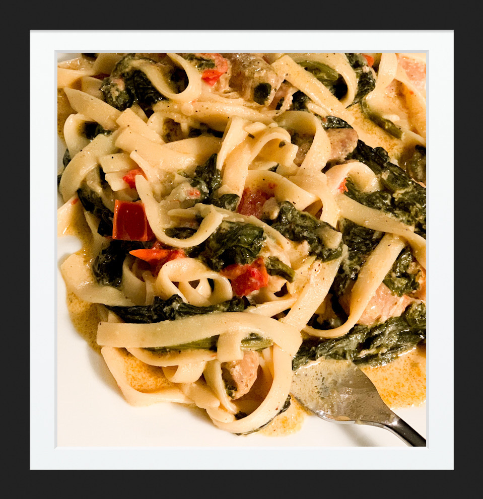 Chicken & Spinach Pasta Recipe
